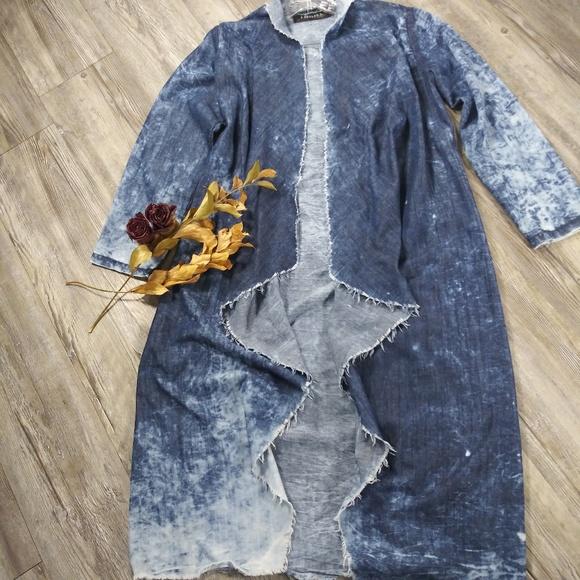 Thrill Jackets & Blazers - Thrill Acid Wash Jean Kimono Sz M